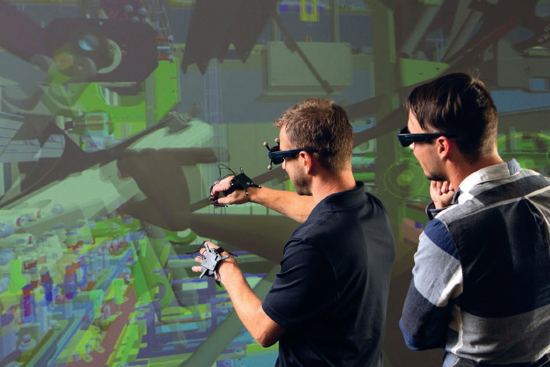 Virtuell, nach der Konstruktion in die Maschine schauen( Fa.Itek )